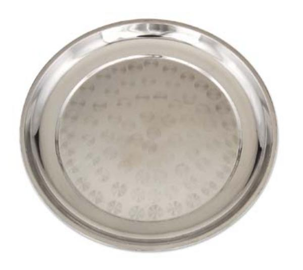 Browne Halco 105645 Serving Tray, Stainless Steel, 17-3/4 Diameter