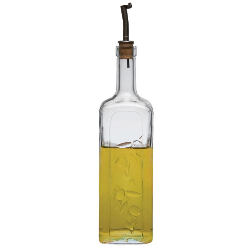 Browne 1073137 33.25-oz Pasabahce Oil/Vinegar Bottle - Glass, Clear