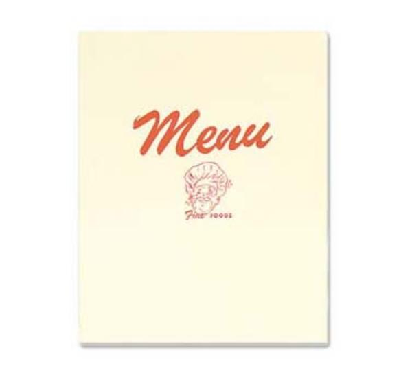 Browne Foodservice 107-COVER Menu Cover, 8-3/4 x 11-1/2 in, Double Fold, Clear Vinyl