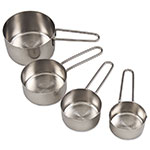 Browne Halco 1191MC Measuring Cup Set: 1/4, 1/3, 1/2 & 1 Cup, Wire Handles, Graduated