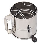 Browne Foodservice 1260-SIFTER 3 lb Flour Sifter, With Handle, Mesh Screen, Stainless Steel
