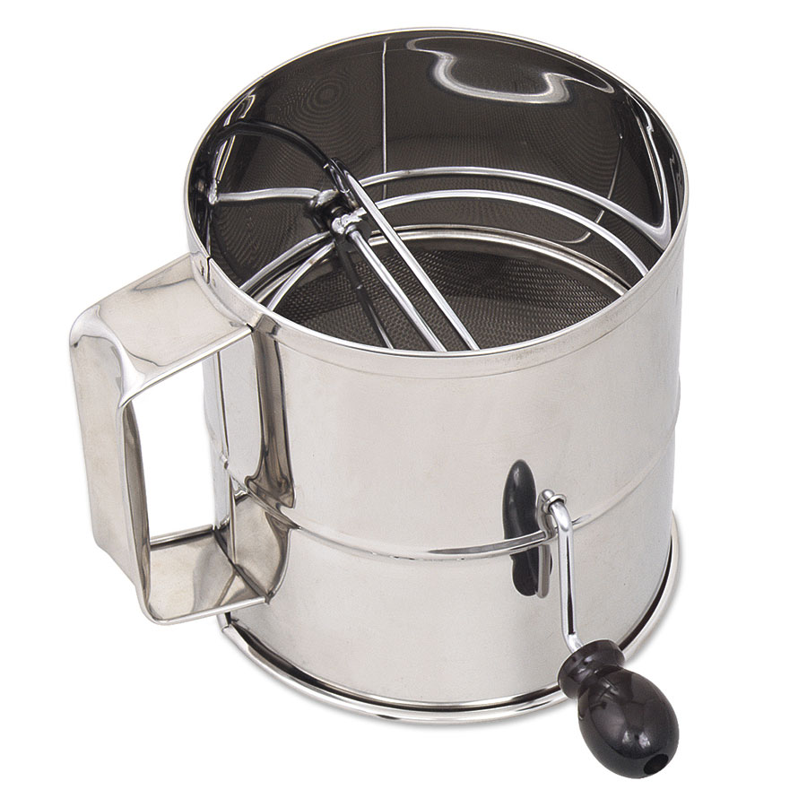 Browne Halco 1260-SIFTER 3 lb Flour Sifter, With Handle, Mesh Screen, Stainless Steel