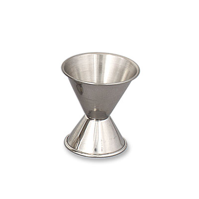 Browne Foodservice 1290 Double Jigger, 1/2 - 1 oz, Stainless Steel, Polished Outside