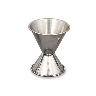 Browne Halco 1291 Double Jigger - 0.75 & 1.5 oz., Stainless Steel, Polished Outside
