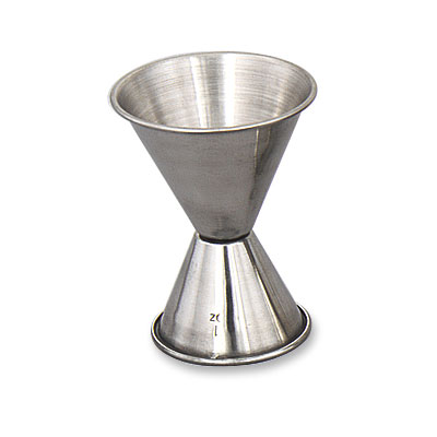 Browne Halco 1293 Double Jigger, 1 - 2 oz, Polished Stainless Steel
