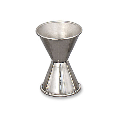 Browne Halco 1295 Double Jigger - 1 & 1.25 oz., Stainless Steel, Polished Outside