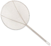 Browne Foodservice 1309T 9-in Round Square Mesh Skimmer w/ Long Hooked Handle