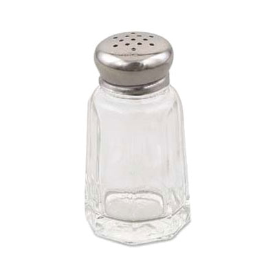 Browne Halco 150SP Salt and Pepper Shaker, 1 oz, Glass, Stainless Steel Mushroom Top