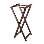 Browne Halco 1551 Tray Stand, Folding, 17 x 16-1/4 x 32-1/2 in, Wood