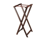 Browne Foodservice 1552 38 in Folding Tray Stand, Mahogany Wood