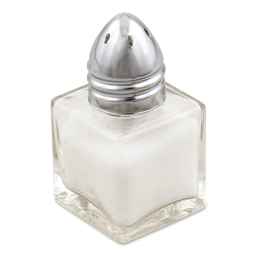 Browne Foodservice 155SP Mini Salt & Pepper Shaker, 1/2 oz capacity