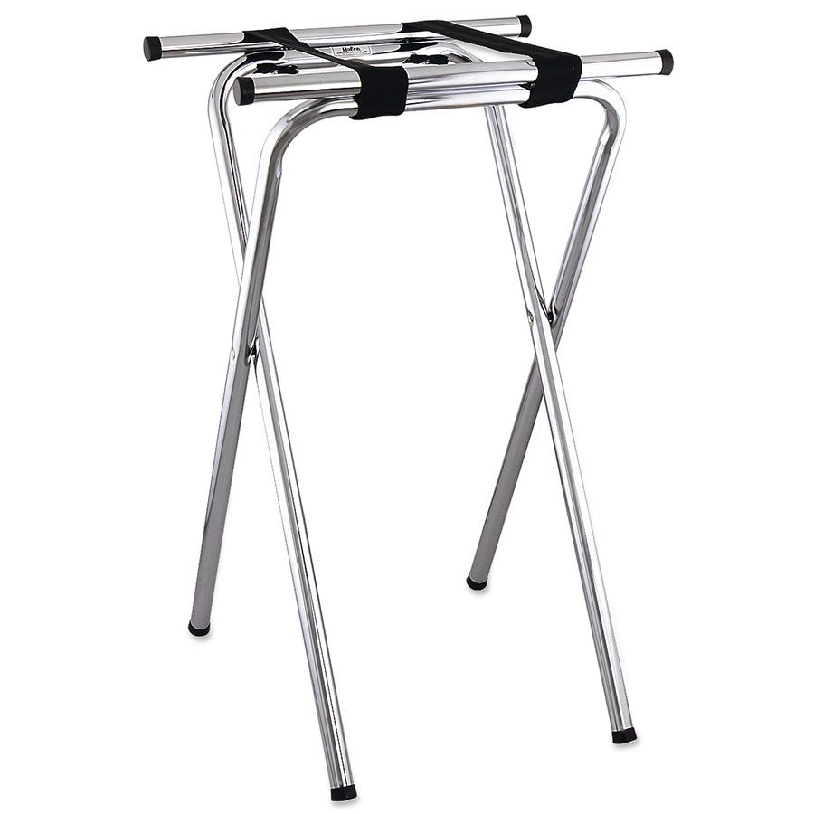 Browne Foodservice 1586 Tray Stand, Folding, Chrome, 19 x 16 x 31 in, Tubular Steel