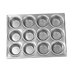 Browne Halco 1612A Muffin/Cup Cake Pan, 12 Cup, Aluminum