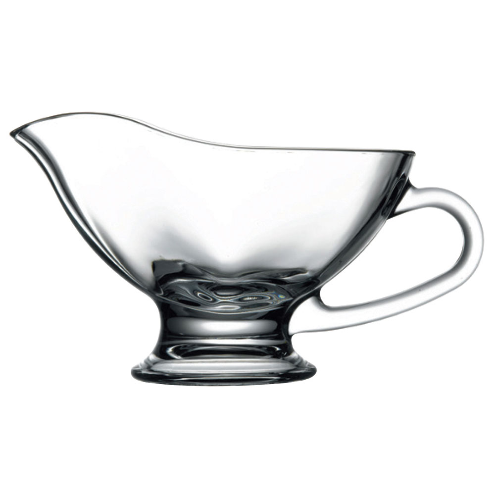 Browne 165296 11-oz Pasabahce Sauce Boat - Glass, Clear
