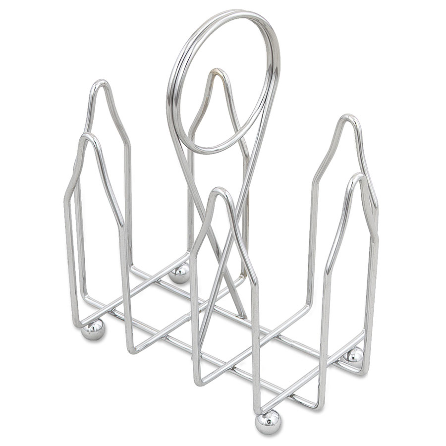 Browne 177 Condiment Rack, 2 Compartments, Chrome Plated, Card Holder Handle