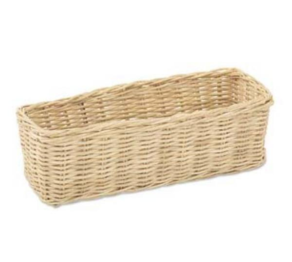 Browne Foodservice 2208 Cracker Basket, 2-3/4 x 8-1/2 in, Rattan Core,