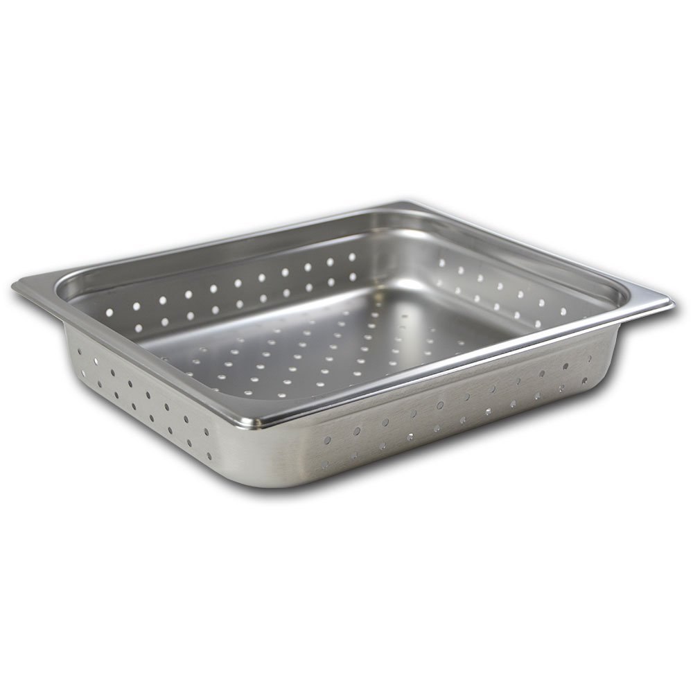 Browne 22122P Half-Sized Steam Pan - Perforated, Stainless