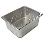 Browne Halco 22126P Half-Sized Steam Pan - Perforated, Stainless