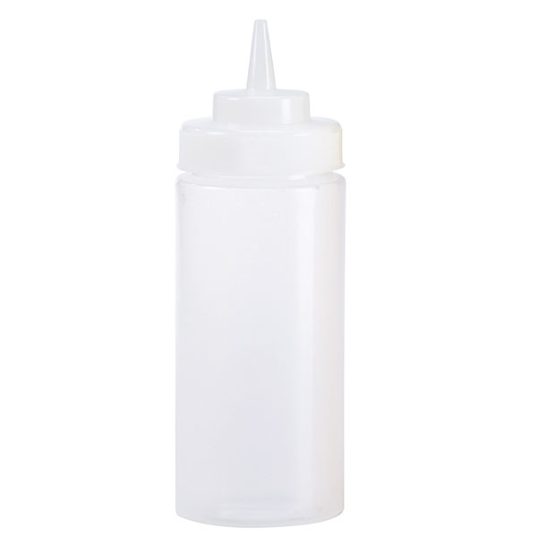 Browne Halco 2403 24 oz Ketchup Squeeze Bottle, No Drip Tip, Clear