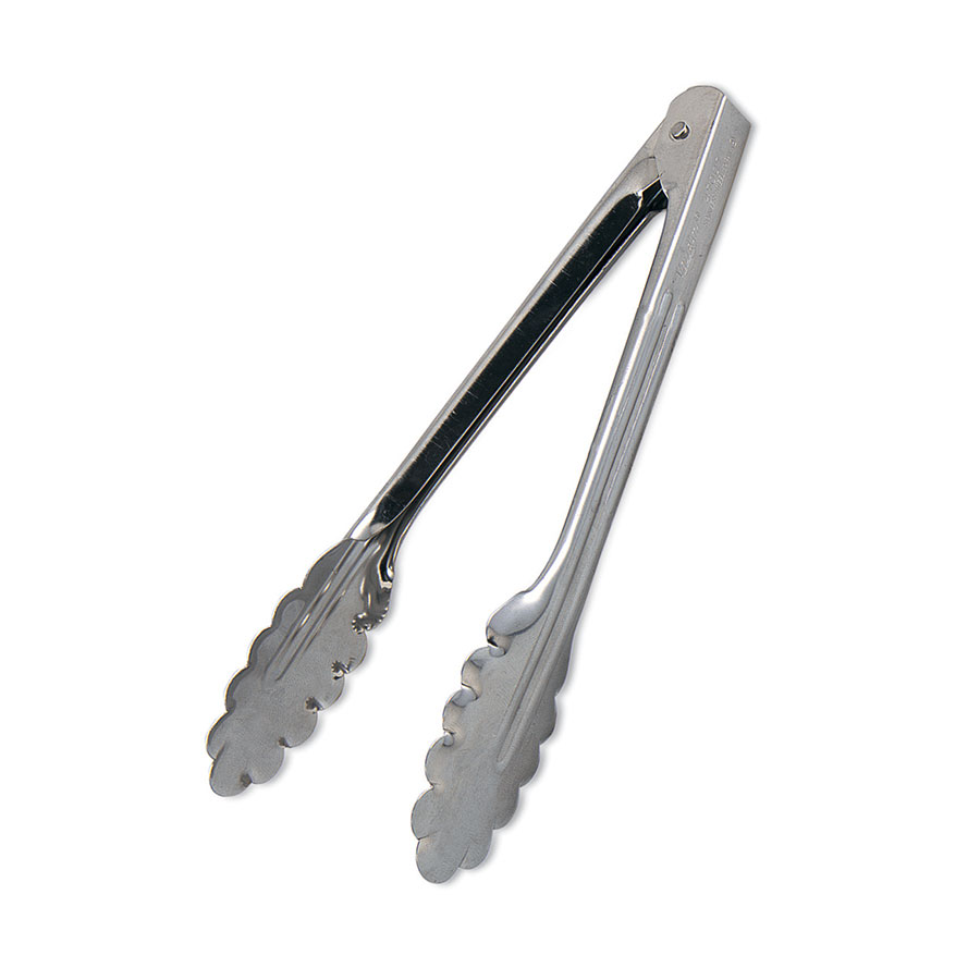 Browne Foodservice 2513 Spring Tongs, 16 in, Heavy, Stainless Steel, 1 mm Thickness