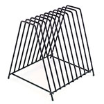 Browne Halco 26099 Cutting Board Storage Rack, 10 Slot, 12 x 11-1/2 x 11 in
