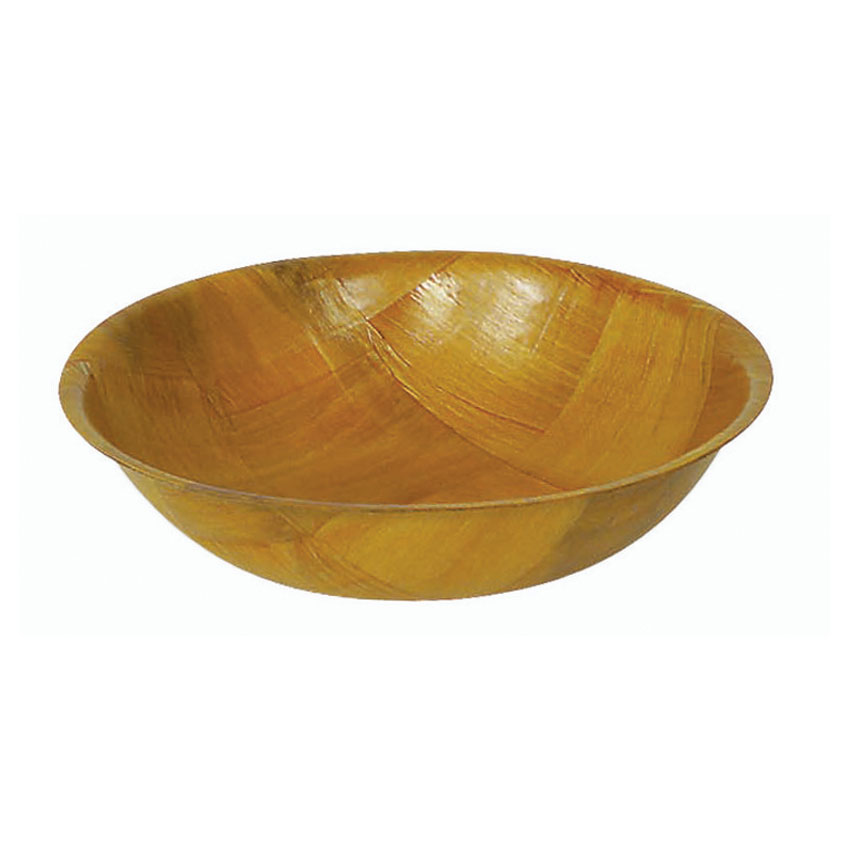 Browne Halco 3606 Woven Wood Salad Bowl, 6 in, Break Resistant, Non-Absorbent, Dishwasher Safe