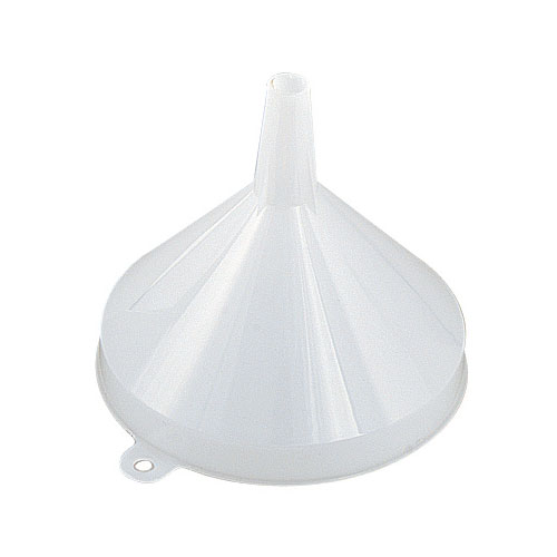 "Browne 369 Funnel, 16 oz, 5-1/4"" Top Diameter, One-Piece, Seamless, Plastic"