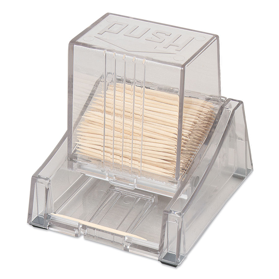 Browne Halco 406S Toothpick Dispenser, 4-1/2 in High, Clear Plastic