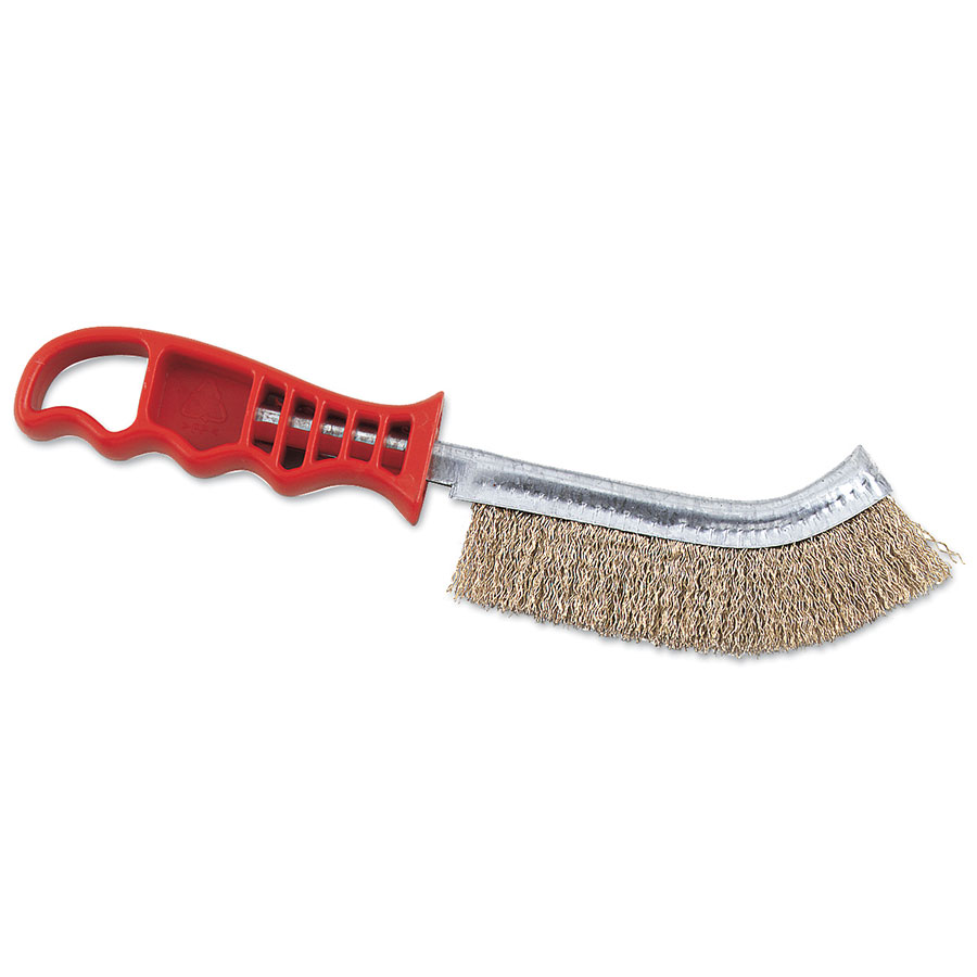 Browne Halco 4203 Broiler/Grill Brush, 11 in, Stiff Wire Bristles