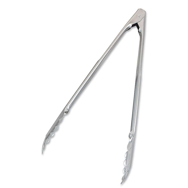 Browne Halco 4512 Spring Tongs, 12 in, Extra-Heavy Thickness, 1.2 mm, Scalloped Edge