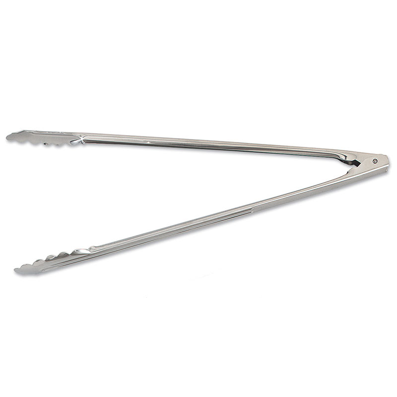 Browne Halco 4513 Spring Tongs, 16 in, Extra-Heavy Thickness, 1.2 mm, Scalloped Edge