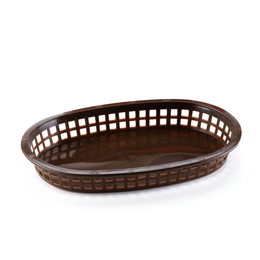 Browne 496FBR Fast Food Basket, Oval, 10-1/4 x 7 x 1-1/2 ...