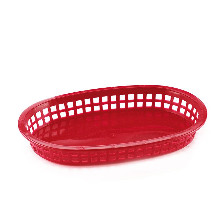 Browne 496FR Fast Food Basket, 10 x 7 x 1-1/2 in, Red