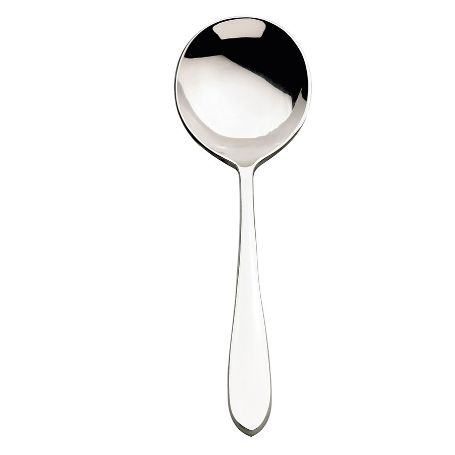 Browne Halco 502113 Eclipse Round Soup Spoon, 18/0 Stainless Steel