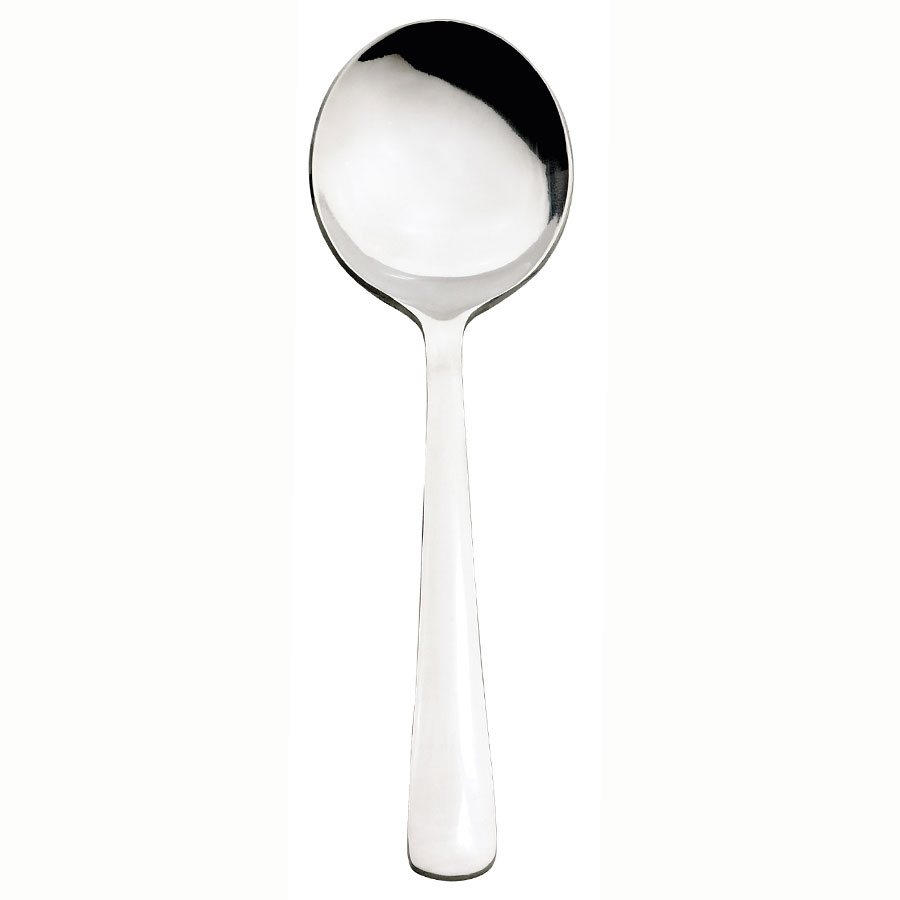 Browne Halco 503813 WIN2 Round Soup Spoon, Mirror Finish, 18/0 Stainless Steel