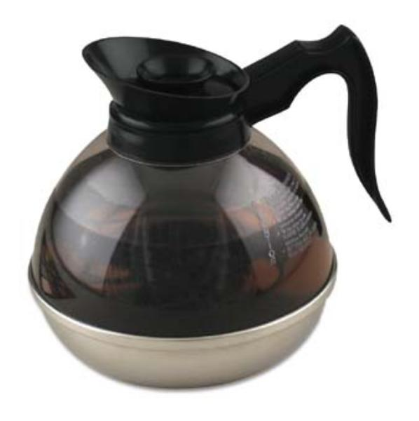 Browne Foodservice 50982 Coffee Decanter, 2 qt Capacity, Plastic, Stainless Steel Base