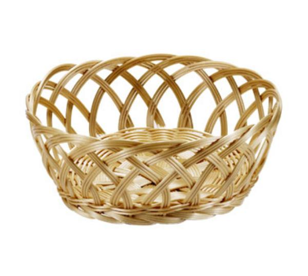Browne Foodservice 5127 Basket, Open Weaved, Round, 9 x 3-1/4 in