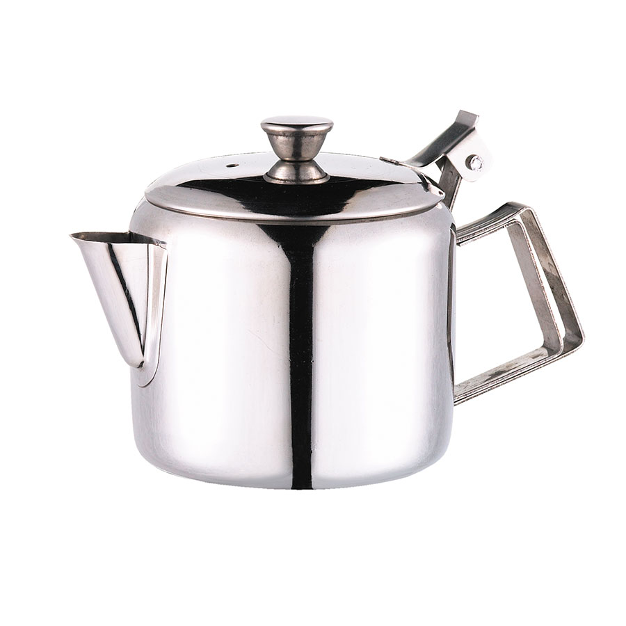 Browne Foodservice 515000 Economy Teapot,  10 oz, 18/10 Stainless Steel