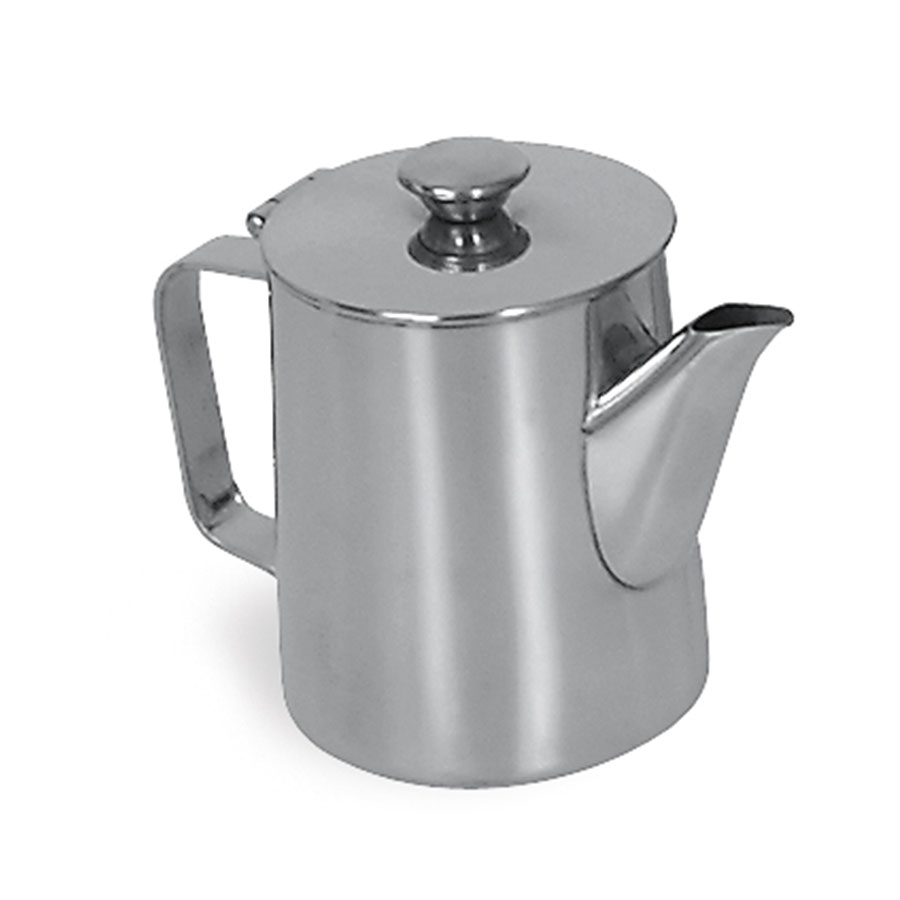 Browne Halco 515001 Contemporary Coffee Pot, 12 oz, 18/8 Stainless Steel, Tall
