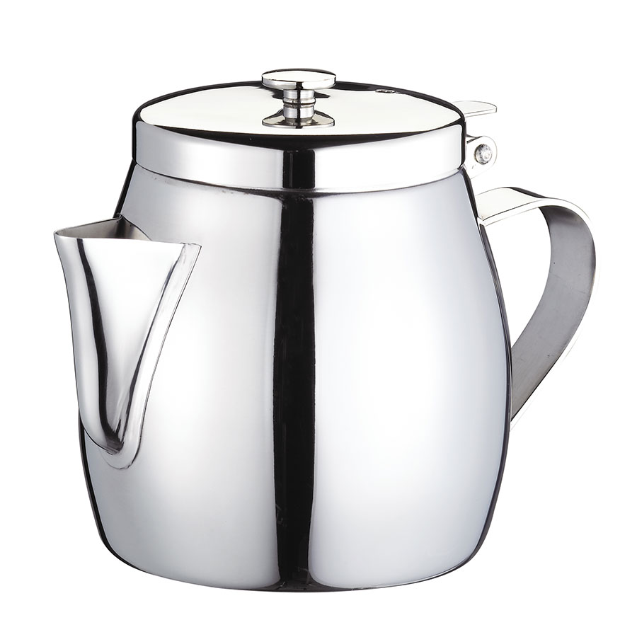 Browne Foodservice 515262 Stackable Teapot, 12 oz, Stainless Steel