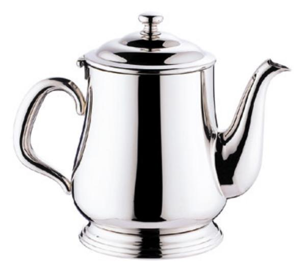 Browne Halco 515830 Paris Teapot, 12 oz, 18/10 Stainless Steel