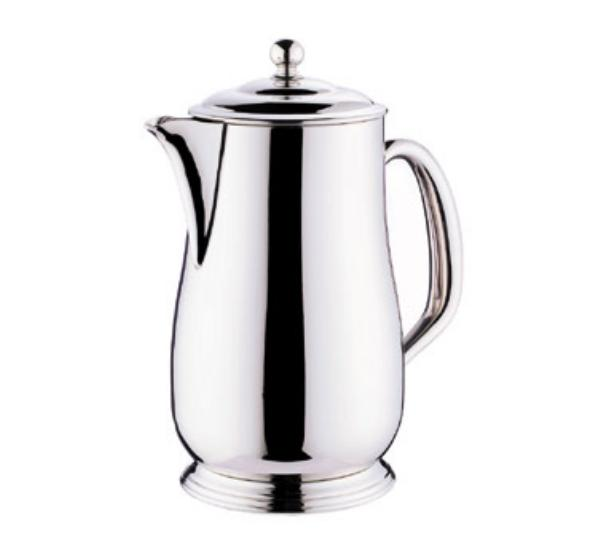 Browne Foodservice 515838 Paris Coffee Pot, 70 oz, 18/10 Stainless Steel