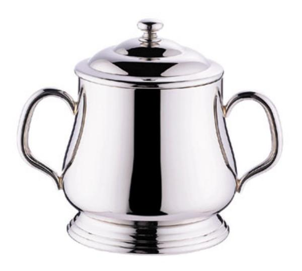 Browne Foodservice 515849 Paris Sugar Bowl, 10 oz, with Cover, 18/10 stainless steel