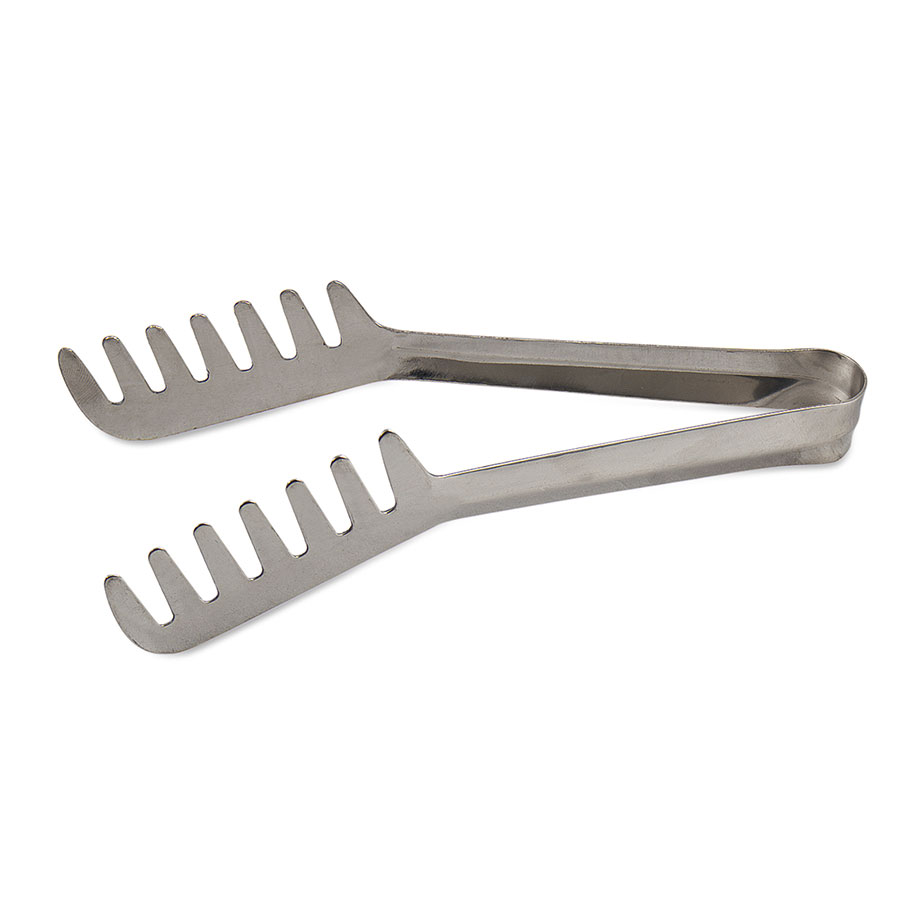 Browne Halco 5313 Spaghetti Tongs, 7-1/2 in, Spring Steel With Blunted Tip