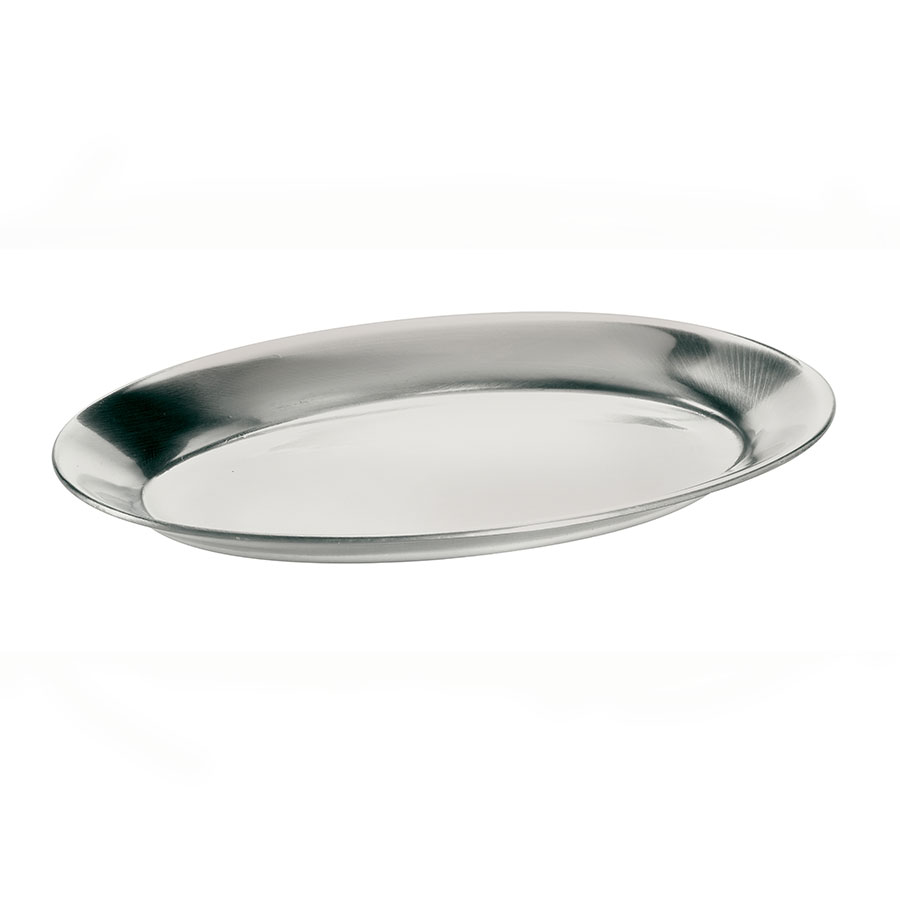Browne Foodservice 561DC Steak Platter, Aluminum, 7 x 10-1/2 in, Mirror Finish