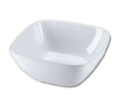 Browne Foodservice 563867 11 in Square Ceramic Bowl, Whit