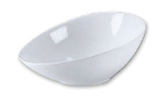 Browne Halco 563872 Oval Ceramic Bowl, 12-1/2 x 9 in, White, Ovid