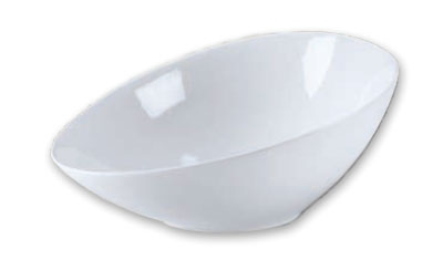 Browne Foodservice 563872 Oval Ceramic Bowl, 12-1/2 x 9