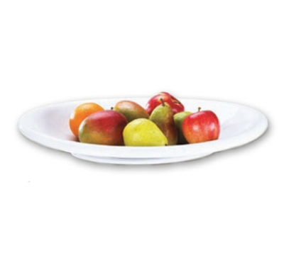 Browne Halco 563878 Oval Ceramic Platter, 19-3/4 x 16 x 2-1/2 in, White, Salamanca