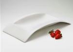 Browne Halco 563886 15-in Square Alare Ceramic Platter, White